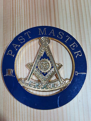 Masonic Auto Car Badge Emblems E5 Mason Freemason PAST MASTER