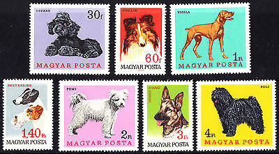 Hungary 1967 Dogs Pets complete set of stamps MNH