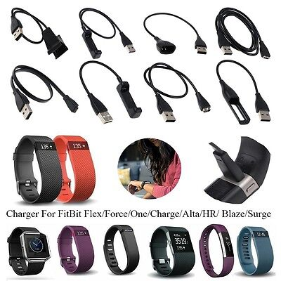 New Charging Cable Charger For FitBit Flex/Force/One/Charge/Alta/HR/ Blaze/Surge