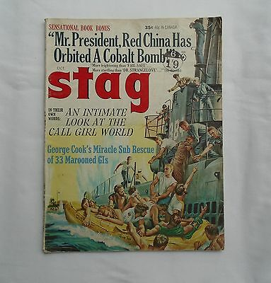 STAG October 1964 Vol 15 No 10 Pulp Magazine – Cover by Mort Kunstler/Adventures