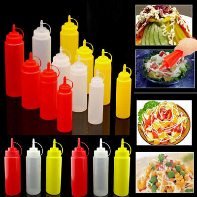 Plastic Squeeze Bottle Condiment Dispenser Ketchup Mustard Sauce Container