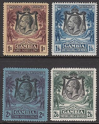 Gambia 1922 #135 #136 #137 1924 #134 Mint Gv Stamps