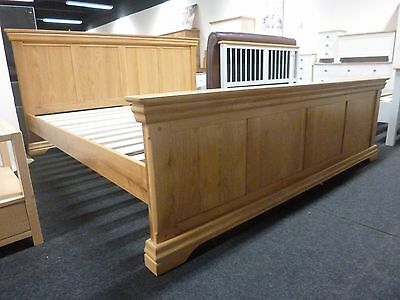 New Chunky French Solid Oak Super King Size Bed Bedstead *Department Store*