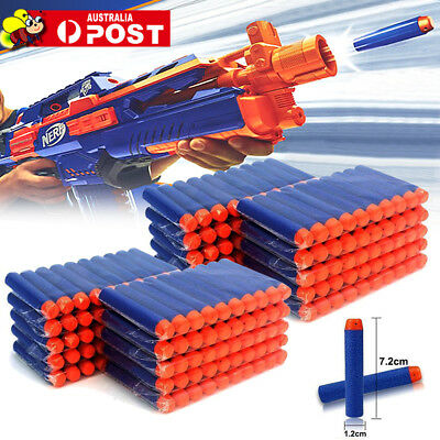 Round Head Bullets Toy Refill Gun Darts Blasters for NERF Elite N-Strike AU