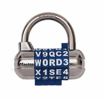 Master Lock 1534D Word Combination Padlock with Interchangeable Removable Dials
