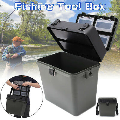 Lightweight 4 Tray Heavy Duty Fishing Tackle Box for Terminal Tackle AU