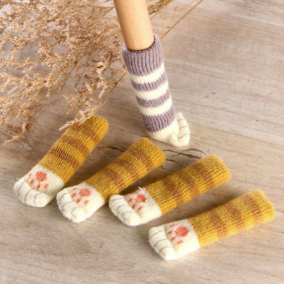 Lovely Cat Paw Table Chair Foot Leg Knit Cover Protector Socks Sleeve Protector