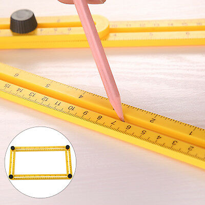Measuring Instrument Angle-izer Four-Sided Ruler Mechanism Slide Template Tool
