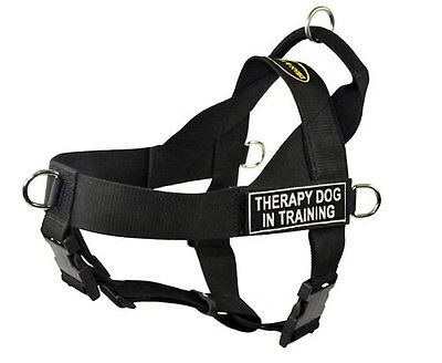 DT Universal No Pull Dog Harness, Therapy Dog In Training, Black, X-Large -