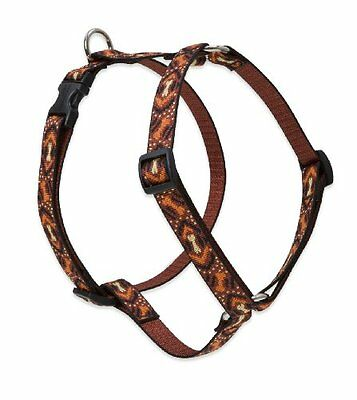 Lupine Down Under Patterned Roman Harness for Small Dogs, 3/4-inch/ 12 - 20-inch