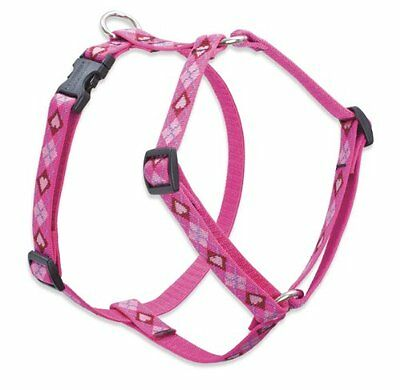 Lupine Puppy Love Patterned Roman Harness for Small Dogs, 3/4-inch/ 12 - 20-inch