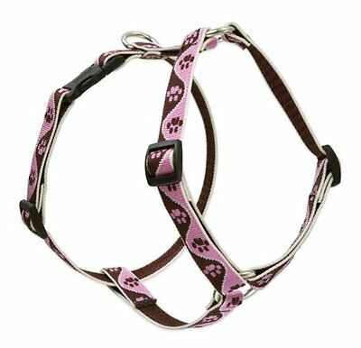 Lupine Tickled Pink Patterned Roman Harness for Small/ Medium Dogs, 3/4-inch/