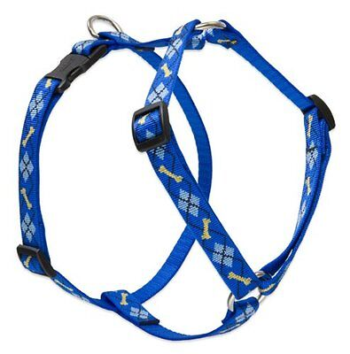 Lupine Dapper Dog Patterned Roman Harness for Small Dogs, 3/4-inch/ 12 - 20-inch