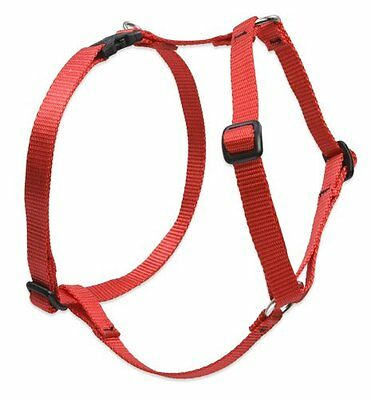 Lupine Roman Harness for Small/ Medium Dogs, 3/4-inch/ 14 - 24 cm, Red