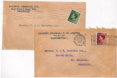 JJ61 1937 GB Manchester Keighley Yorkshire Cover x 2 {samwells-covers}