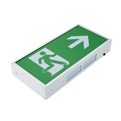 3W LED Green Square Maintained/ Non Maintained Emergency Exit Sign - Right Arrow
