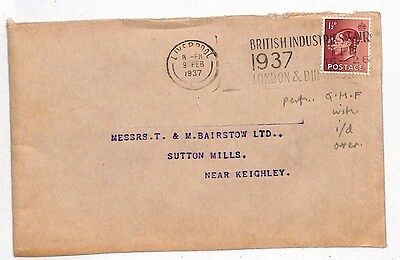 JJ21 1937 GB Liverpool Sutton Mills Keighley Cover {samwells-covers}