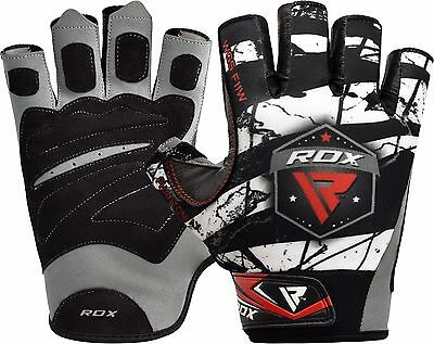 RDX Weight Lifting Gloves Training Bodybuilding Gym Power Fitness Strength AU