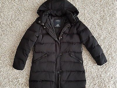 Zara Girls Down /Padded  black jacket /coat size 11-12 years old