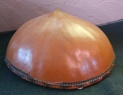 Vintage Gourd Hat with woven inside and trim