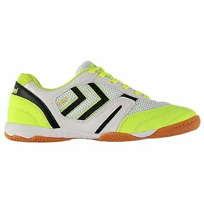 Hummel Inter Pro Indoor Trainers Mens Wh/Lime Football Soccer Fusbal Shoes