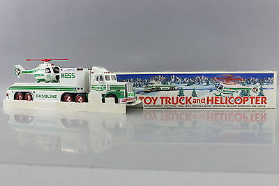 Hess 1995 Toy Truck and Helicopter Real Head & Tails Lights New in Open Box NIOB