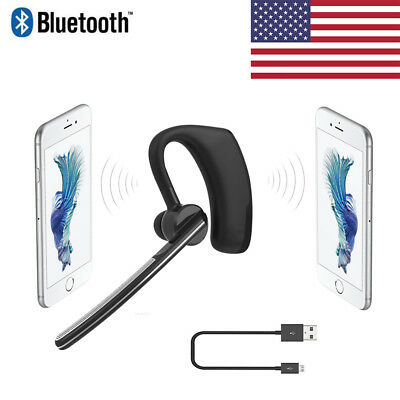 Wireless Bluetooth Stereo Business Headset Earphone For IPhone Samsung Universal