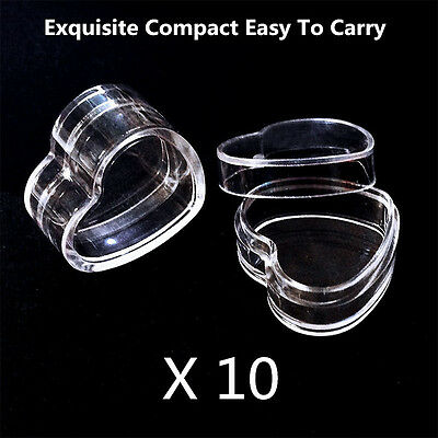 10Pcs Plastic Empty Cosmetic Lip Balm Cream Pot Jar Box Container Heart Shape