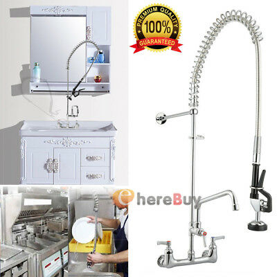 Pre Rinse Faucet with Sprayer for Commercial Kitchen Heavy Duty Utility Sink Tub