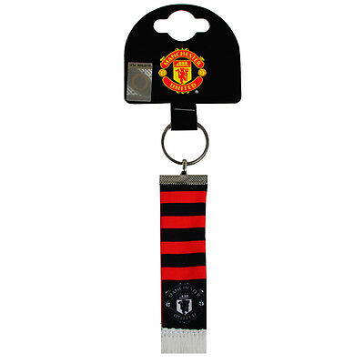 Manchester United Bar Scarf Keyring Gift New Official Licensed Football Product