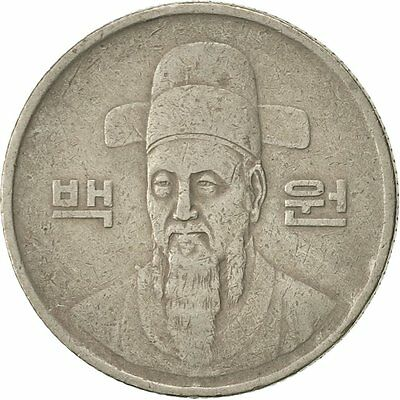 [#423496] KOREA-SOUTH, 100 Won, 1983, EF(40-45), Copper-nickel, KM:35.1