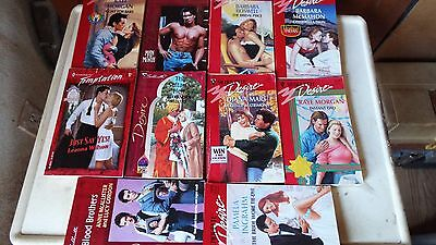 lot of 10 romance paperback books- McMahon, Wilson,Morgan,Boswell & others 6bb