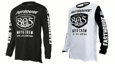 New Fasthouse Black Or White 805 Shield Air Cooled MX/Offroad Jersey Adult Sizes
