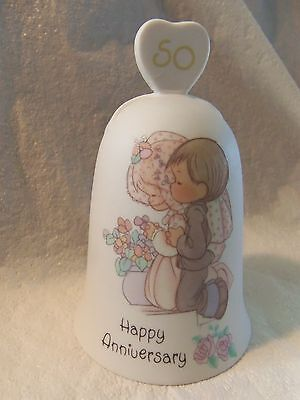 """Precious Moments """"happy Anniversary"""" 50Th Porcelain Bell 1989"""