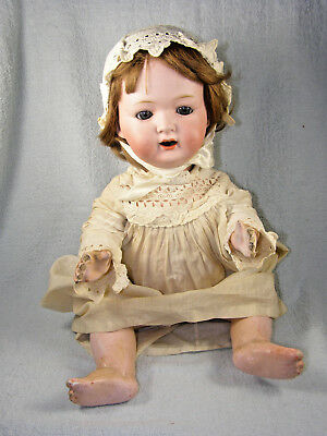 "Antique Morimura Brothers Bisque Head Character Doll - 16"" - circa 1915"