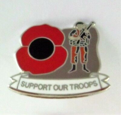 POPPY BADGES World War One WW1 100th Anniversary 1914-1918 Rememberence Pin (b)