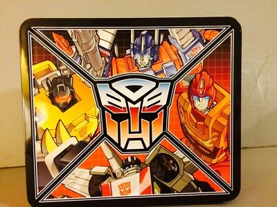 Transformers Hasbro Metal Tin Autobots Lunch Box