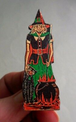 Dollhouse Miniature ~ Halloween ~ Vintage Standing Witch Board