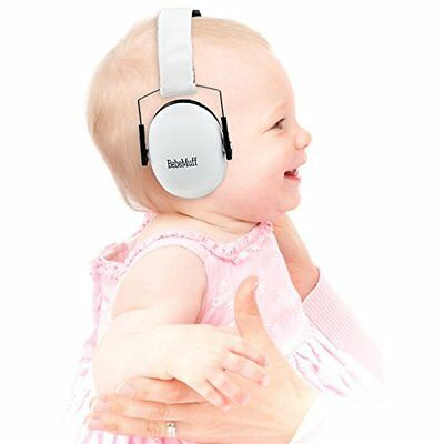 BEBE Muff Hearing Protection - BEST USA Certified Ear Muffs, Ivory White 2 yrs +