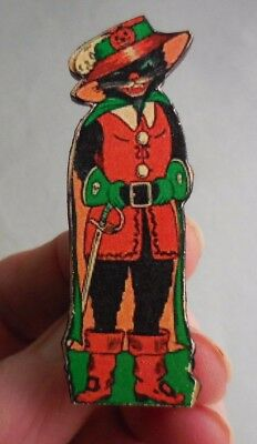Dollhouse Miniature ~ Halloween ~ Vintage Standing Swashbuckler Cat Board