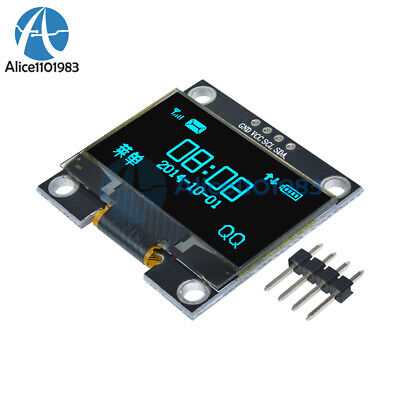"1.3"" Blue OLED LCD 4Pin Display Module IIC I2C 128x64 3-5V Interface for Arduino"