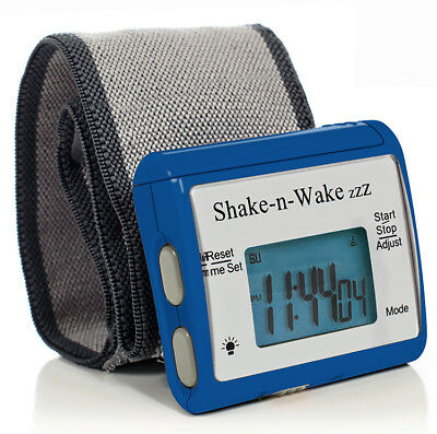 Tech Tools Shake-n-Wake Silent Vibrating Alarm Wrist Watch (Blue) TPI-107BLU