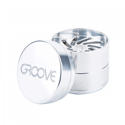 Groove By Aerospaced 4-piece Silver Grinder 50mm 100% Authentic Free Shipping