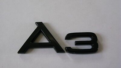Black A3 Badge AUDI A3 TDI S LINE TFSI BLACK EDITION