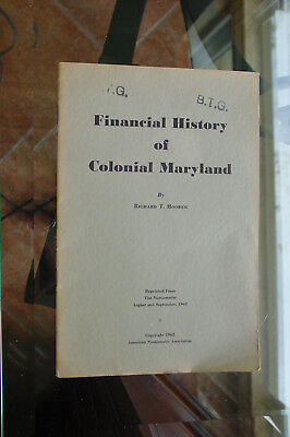 Finacial History of Maryland US Paper Money Publications