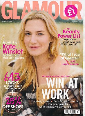 Glamour Magazine UK October 2017 Kate Winslet Grenfell
