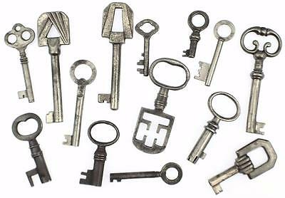 Antique/Vintage Keys Job Lot of 14 - Cabinet/Box/Furniture - My Ref.J52