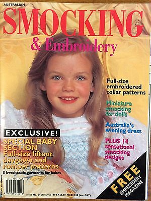 Australian Smocking & Embroidery - Issue 24 - Summer 1993 -  Rare