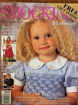 Australian Smocking & Embroidery - Issue 49 - 1999 -  Rare