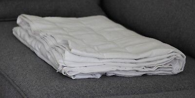 White Cotton Weighted Therapy Blanket- CE Certified, all sizes and colours